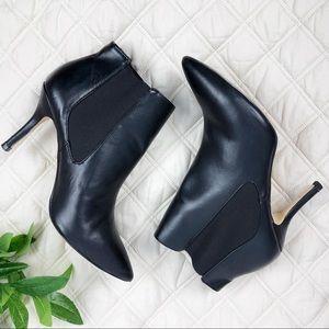 {Ann Taylor} Vegan Ankle Boots• Size 9 • Black